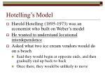 hotelling s model