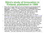 sitra s study of innovation in finland published in 1999