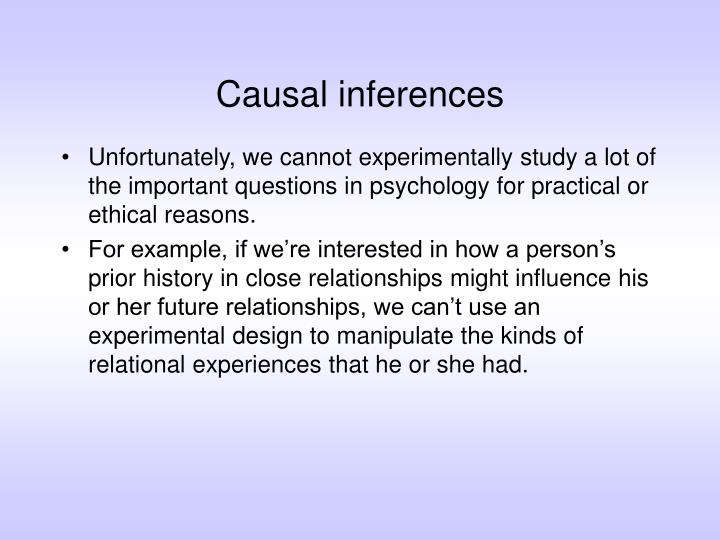 Causal inferences2