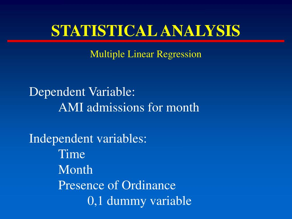 multiple regression analysis using dummy variable Using dummy variables in the multiple regression 271 in regression analysis, the variable that the researcher intends to predict is the dependent variable.
