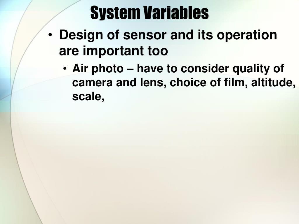 System Variables