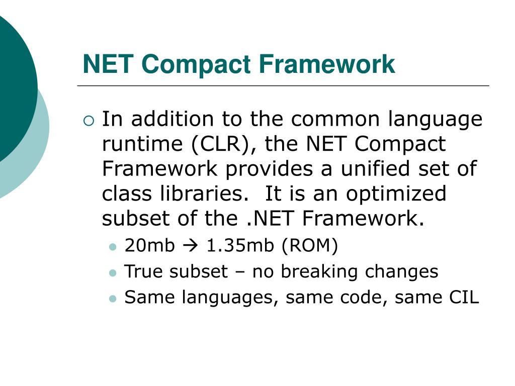 NET Compact Framework