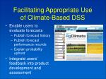facilitating appropriate use of climate based dss13