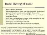 racial ideology fascist