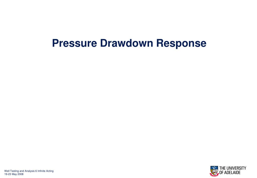 Pressure Drawdown Response