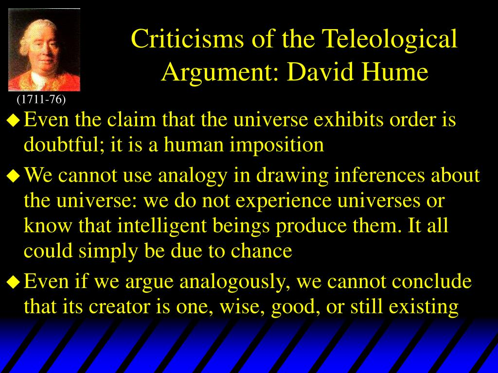 david hume a critique of the teleological argument thesis