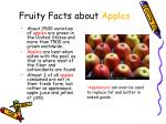 fruity facts about apples