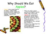 why should we eat apples