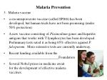 malaria prevention74