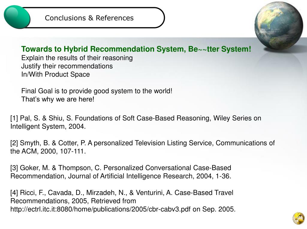 Conclusions & References