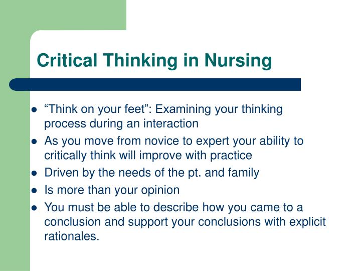 how to think critically in nursing