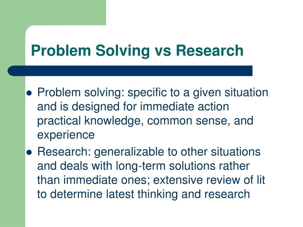 action research problem solving