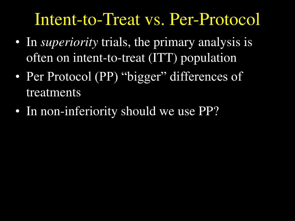 Intent-to-Treat vs. Per-Protocol