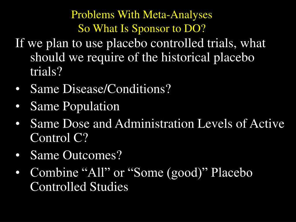 Problems With Meta-Analyses