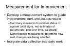 measurement for improvement