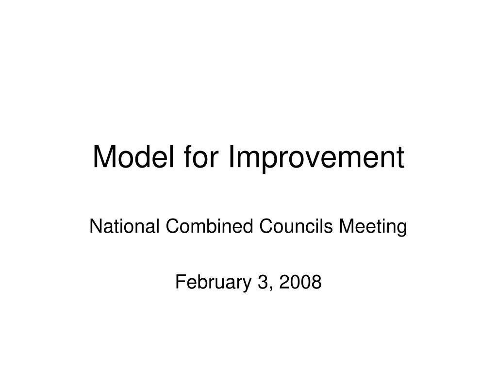 model for improvement l.