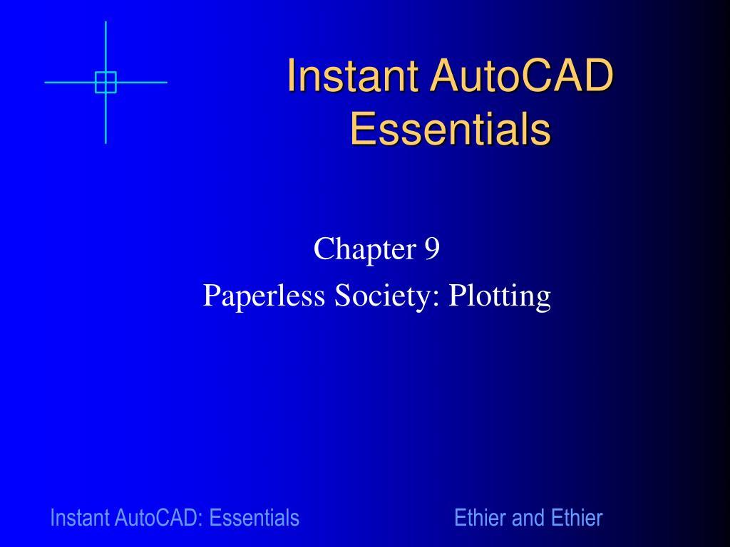 instant autocad essentials l.
