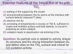 essential features of the interaction of au with tio 2