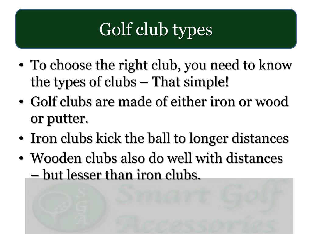 Golf club types