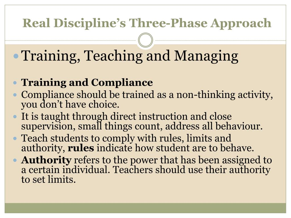 Real Discipline's Three-Phase Approach