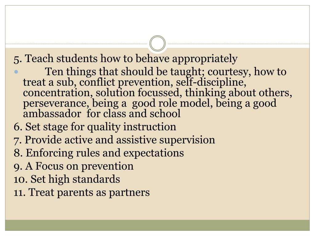 5. Teach students how to behave appropriately