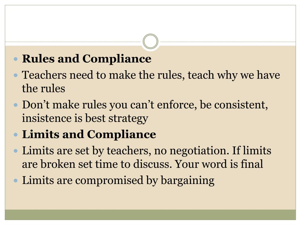 Rules and Compliance