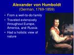 alexander von humboldt german 1769 1859