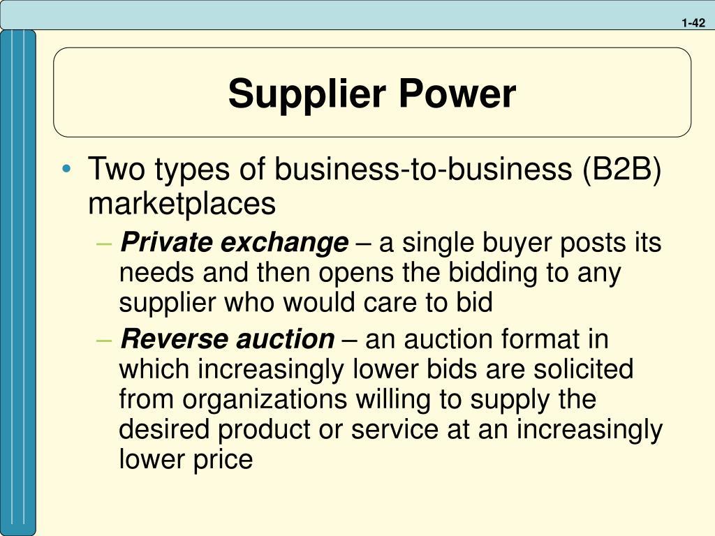 Supplier Power