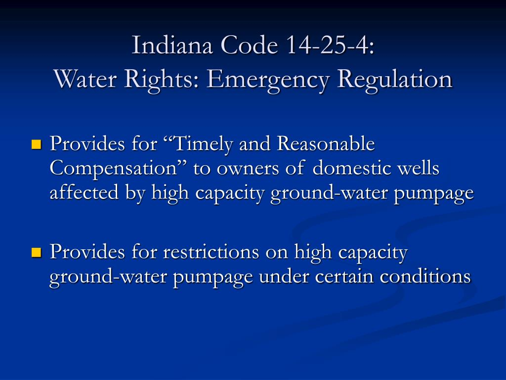 Indiana Code 14-25-4:
