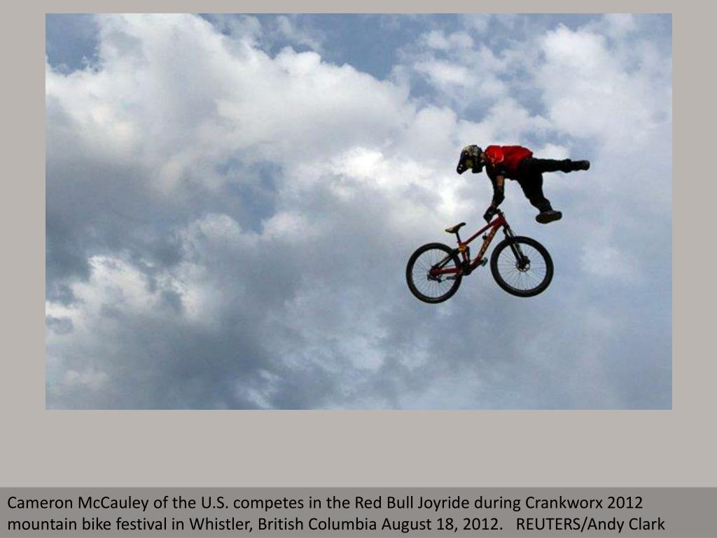 Cameron McCauley of the U.S. competes in the Red Bull Joyride during Crankworx 2012 mountain bike festival in Whistler, British Columbia August 18, 2012.   REUTERS/Andy Clark