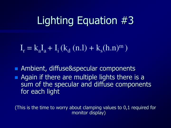 Lighting Equation #3