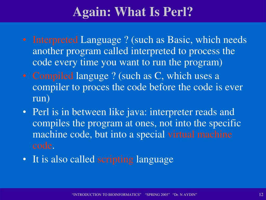 Again: What Is Perl?