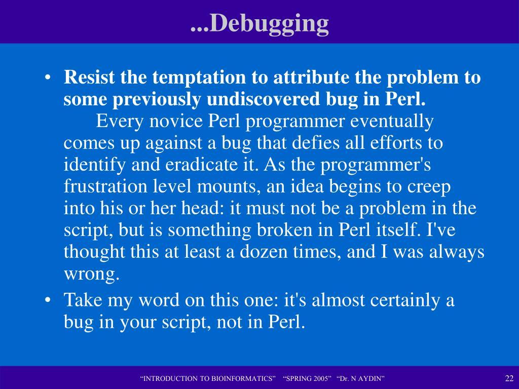 ...Debugging