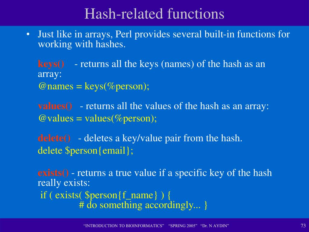Hash-related functions