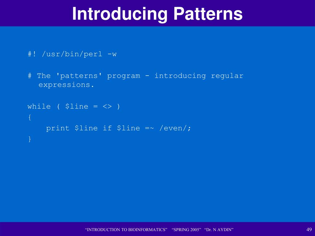 Introducing Patterns