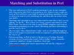 matching and substitution in perl