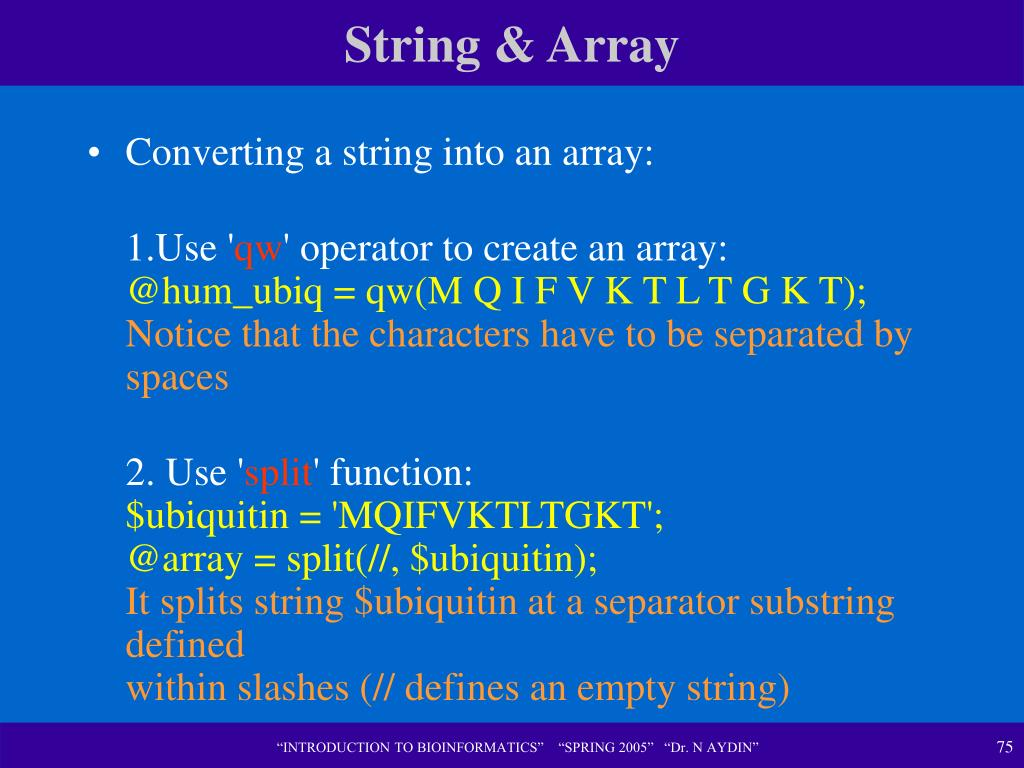 String & Array