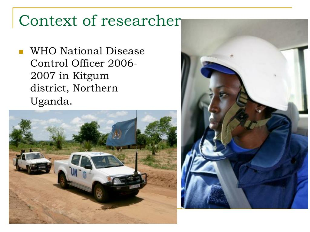 Context of researcher