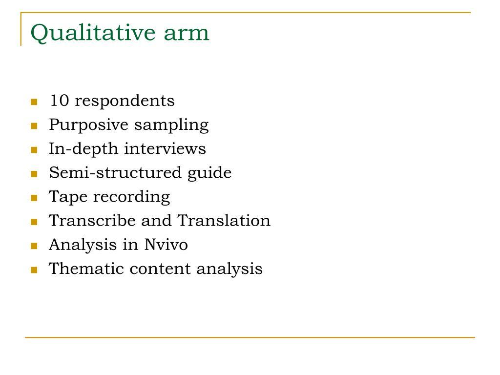 Qualitative arm