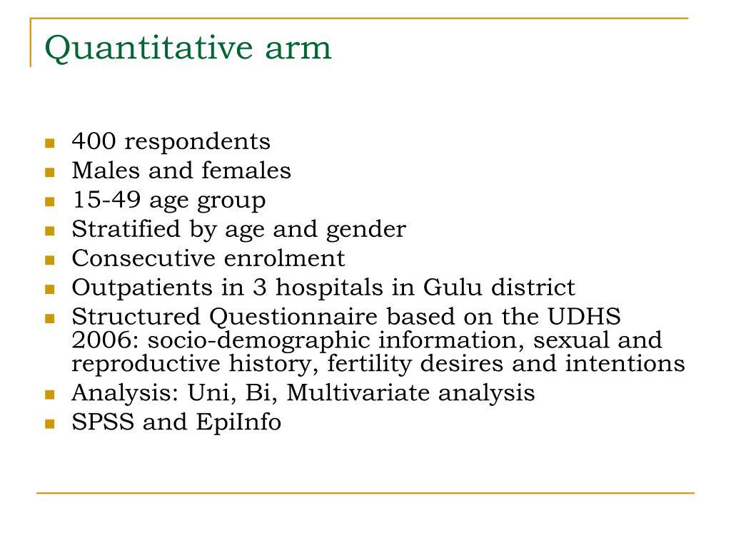 Quantitative arm