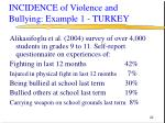 incidence of violence and bullying example 1 turkey