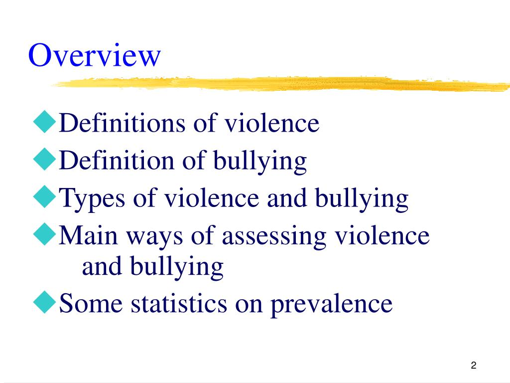 Definitions of violence