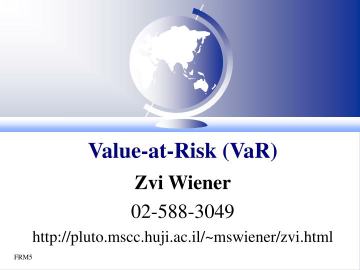 value at risk var n.