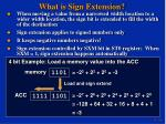 what is sign extension