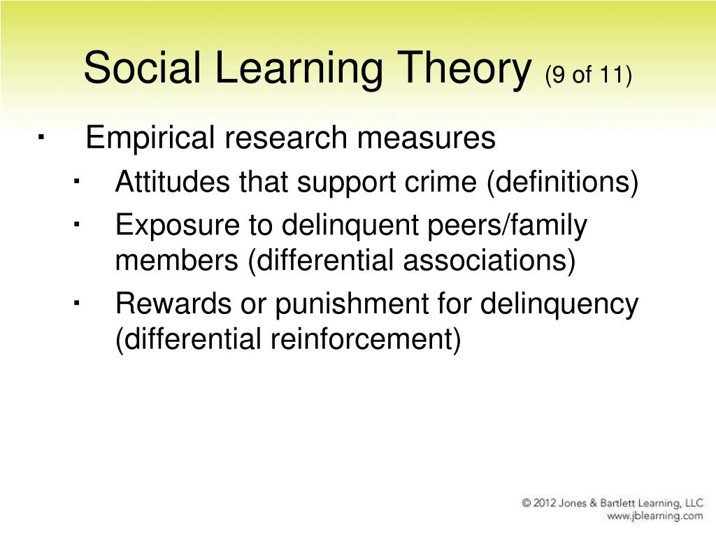 social learning theory and organized crime