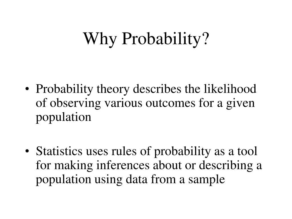 why probability l.