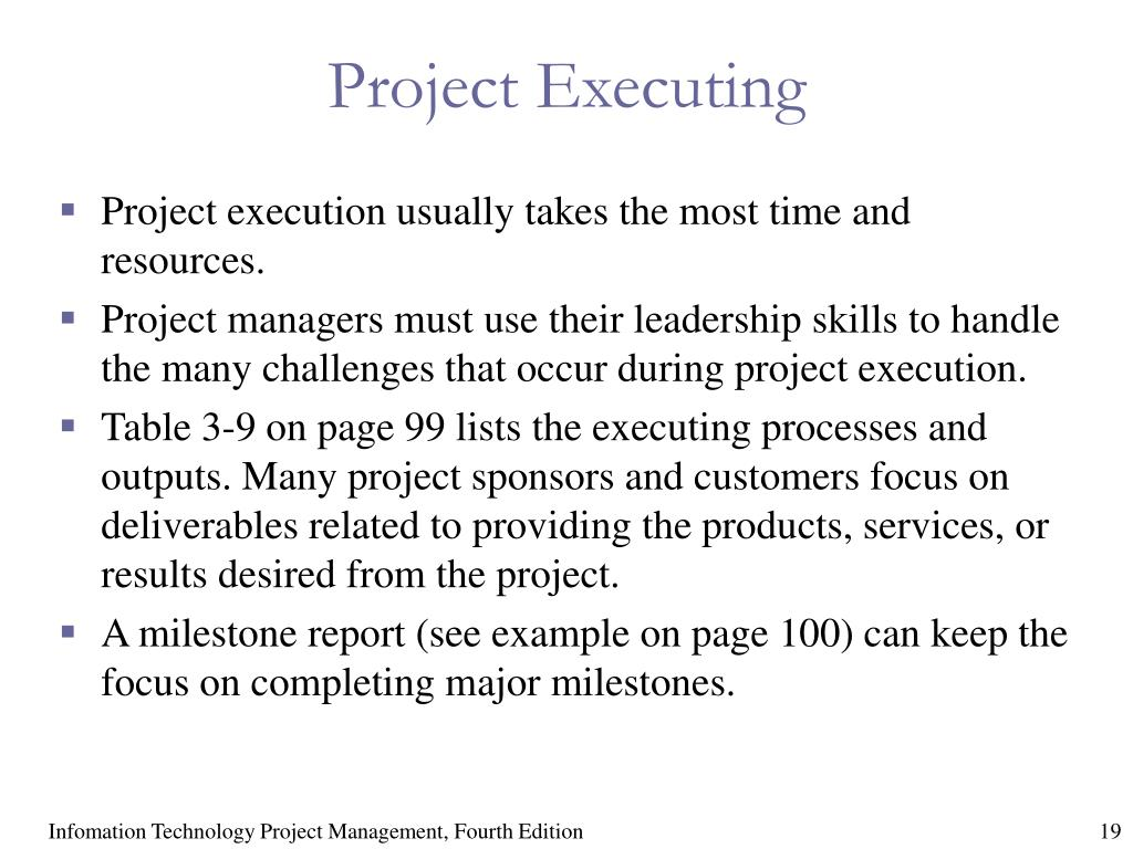 Project Executing