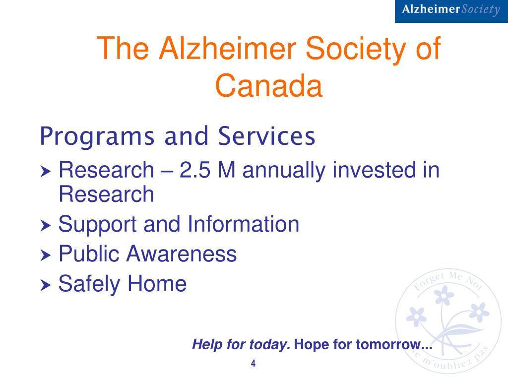 The Alzheimer Society of Canada