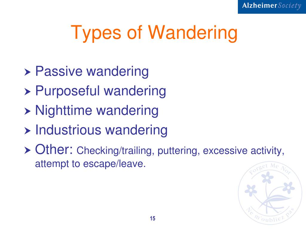 Types of Wandering