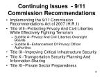 continuing issues 9 11 commission recommendations60